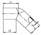 PP-H 对焊管件 45度弯头