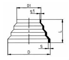 PVDF 对焊管件 同心变径/短口