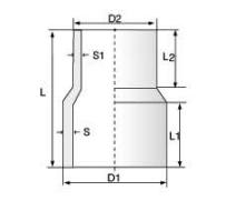 PVDF 对焊管件 同心变径/长口