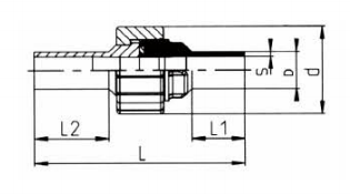 PP-H 对焊管件 活接