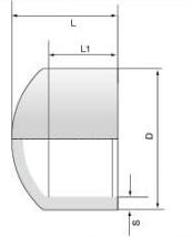 PVDF 对焊管件 管帽/长口
