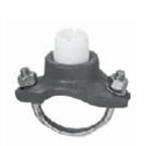 +GF+ 卡箍式铸铁鞍型件,用于SCH40金属管道