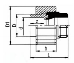 PP-H 承插管件 活接