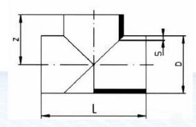 PP-H 对焊管件 三通