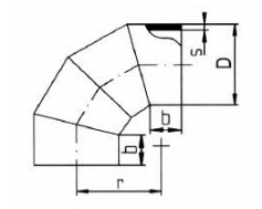 PP-H 对焊管件 90度弯头