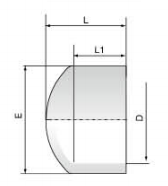 PVDF 对焊管件 管帽