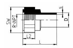 PP-H 对焊管件 内螺纹管接头