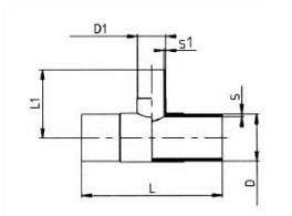PVDF 对焊管件 变径三通/长口