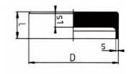 PVDF 对焊管件 管帽/短口