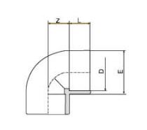PVDF 对焊管件 90度弯头