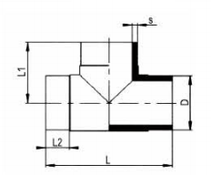 PP-H 对焊管件 三通/短口