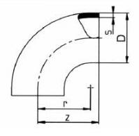 PP-H 对焊管件 90度弯头/短口