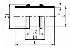 PVDF 对焊管件 节流管件