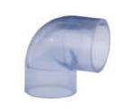 国标/美标PVC透明90*弯头
